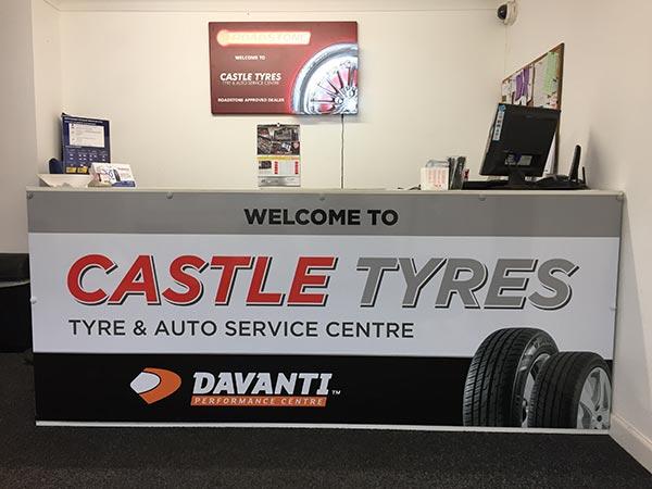 Castle Tyres Reception